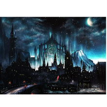 Castle night view diamond Embroidery diy painting mosaic diamant 3d cross stitch pictures H803