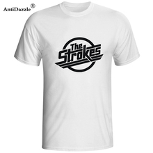 Antidazzle The Strokes T Shirt Men Indie Rock Band T-shirt Short Sleeve  Cotton Casual 20977afa5a8f