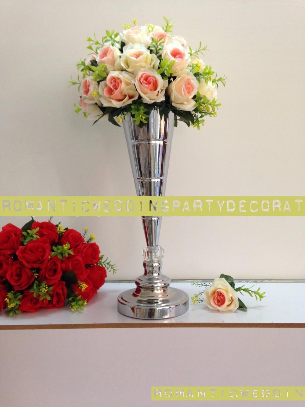 Height 45cm 175 Gold Or Silver Wedding Flower Vase Bling