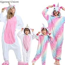 цена на Boys Girls Pajamas Sets Kigurumi Unicorn Pajamas For Women Men Onesie Adults Animal Panda Stitch Sleepwear Cosplay Pyjamas Kids