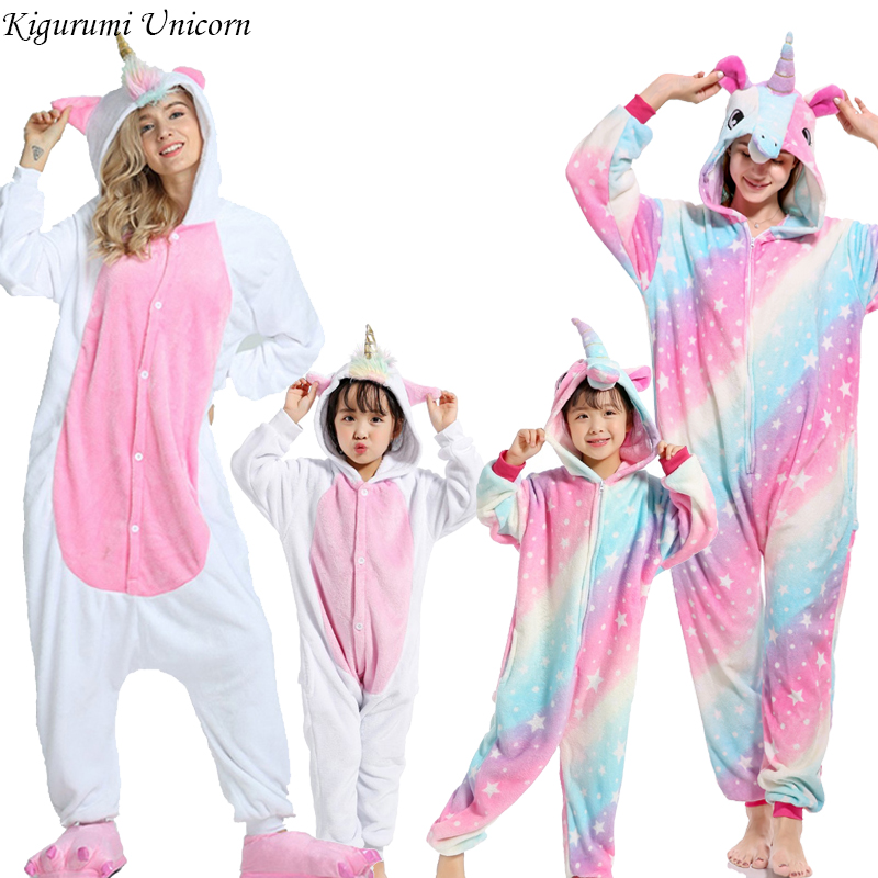 Boys Girls   Pajamas     Sets   Kigurumi Unicorn   Pajamas   For Women Men Onesie Adults Animal Panda Stitch Sleepwear Cosplay Pyjamas Kids