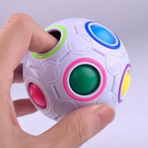 Intelligent children's toys puzzle decompression rubik's cube infinite rainbow ball creative finger mini football alien baby(China)