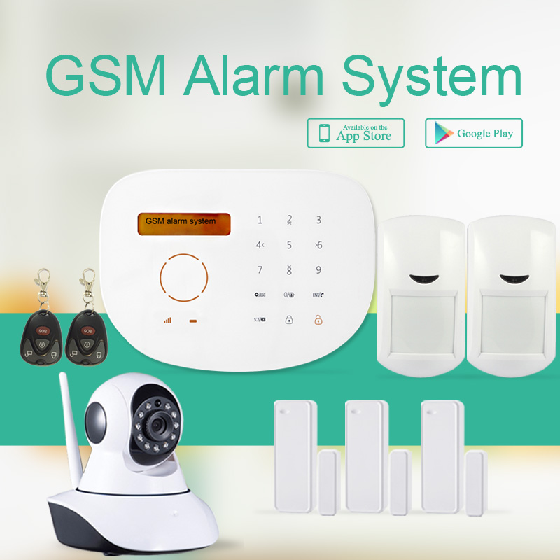 Android+IOS APP  GSM alarm system with IP camera, smart home GSM security alarm & home security GSM alarm system brand new security alarm system kit smart ios android app 868mhz gsm pstn alarm system with friendly interface