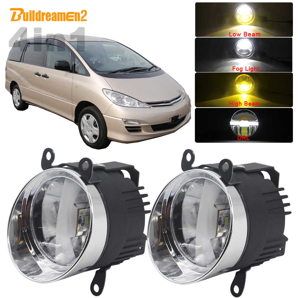 4in1 Function Car LED Bulb Headlight High Low Beam Fog Light DRL Intelligent Switch 5000LM 12V For Toyota Estima 2000-2006