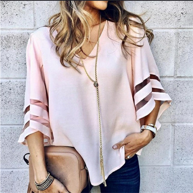 Hot sale summer women's new ins fashion solid color short-sleeved casual shirt plus size S-5XL women shoes C1267