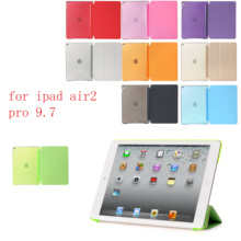 Case for iPad air2 pro 9.7 PC Hard+PU Leather Smart Auto Sleep Wake Ultra Slim Tablet A1566`A1567`A1673`A1674