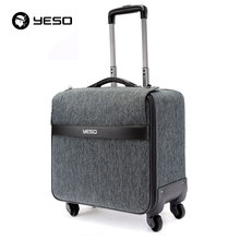 YESO Brand Trolley Travel Bag Hand Luggage 2016 Autumn Fashion Unisex Linen Big Space Suitcase On Wheels Carry On Luggage