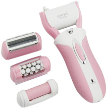 3-in-1 Multi-function Electric Foot File Callus Remover Velvet Smooth + Lady Shaver Epilator + Hair Removal For Women