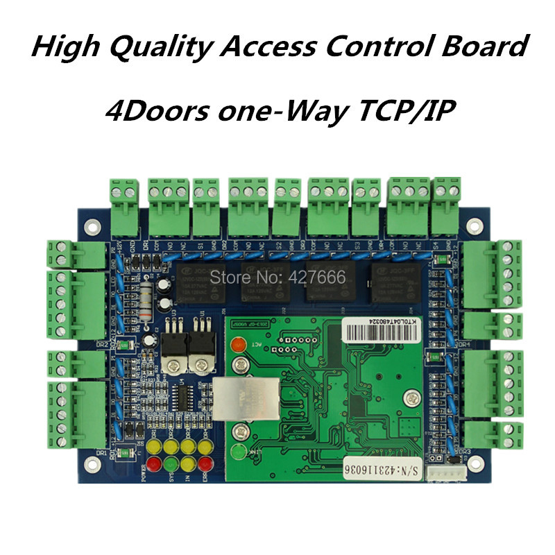 Free shipping TCP/IP four door one way access control panel,access control board free shipping by dhl tcp ip four door access controller 4 door access control panel access control board