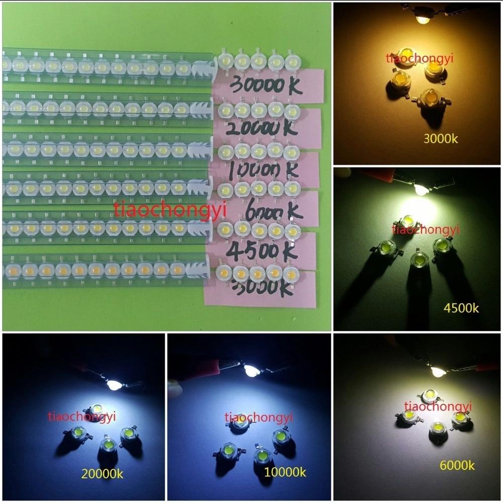 10 1000pcs 1W 3W High Power White 3000k 6500K 10000K-35000K LED Beads Lamp Chip