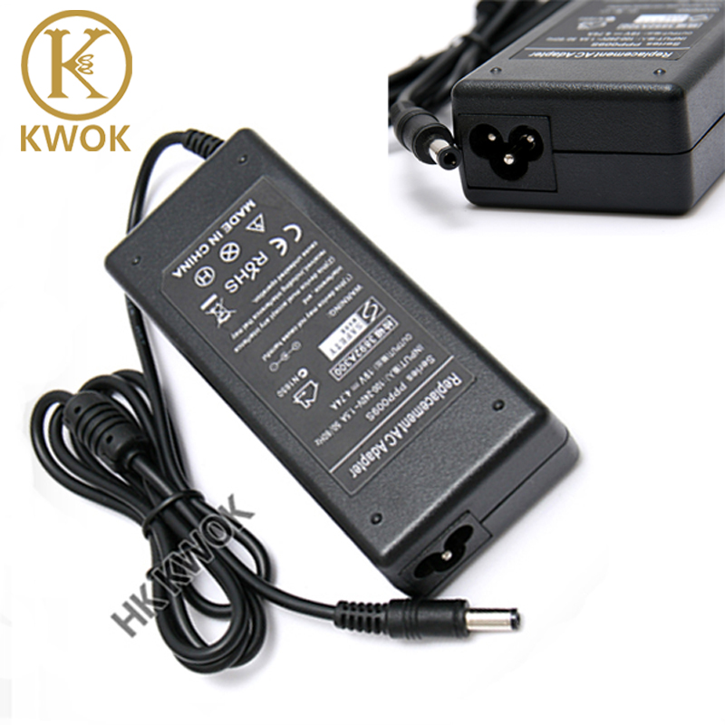 Free Shipping 8pcs/lot AC Adapter 19V 4.74A 5.5*2.5mm 90W Power Supply Laptop Charger For asus F3 L5 M50 P80 U3 W3 L3 K40 Series