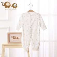 Dion Babyhome Newborn Boys Pure Organic Cotton Long Sleeve Printed Baby Body Clothes Jumpsuit Layette Baby Girl Romper(China)