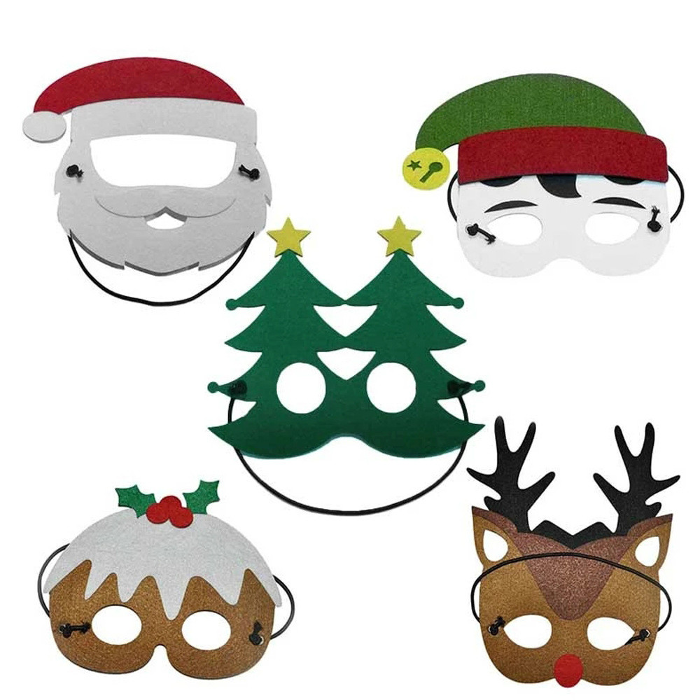 Hot sale Christmas Theme Masks Santa Christmas Tree Elk Joker Masks kids Masquerade Costumes Cosplay Festival Party Supplies