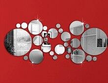 28pcs new design mirror wall sticker,frame, stickers luxury home decoration best gift