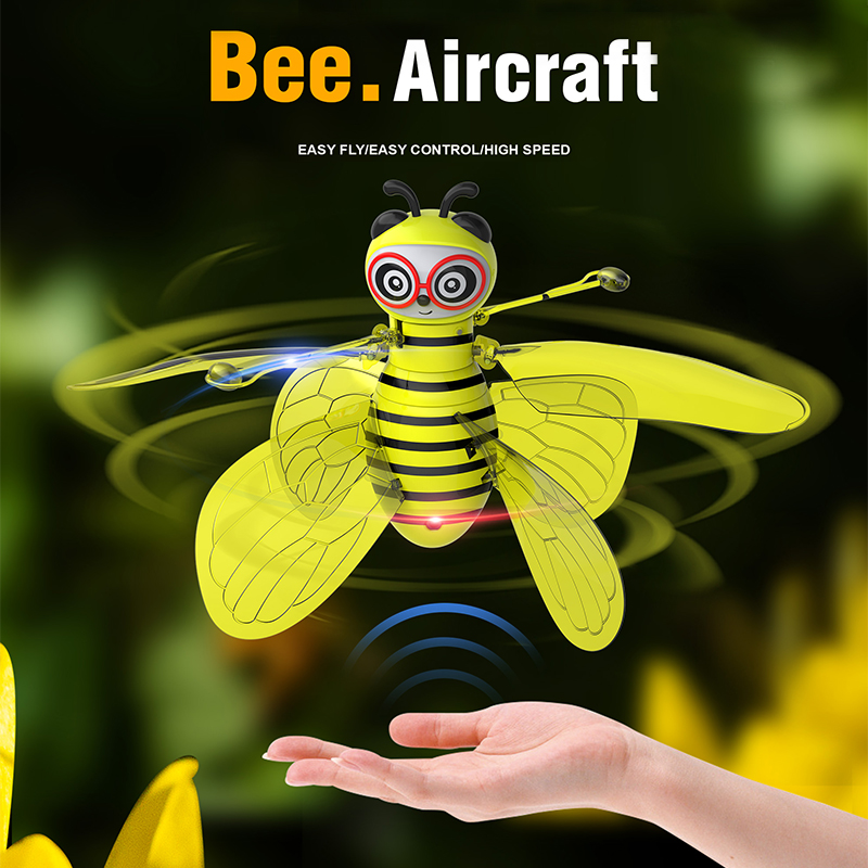 Global Drone Bee Aircraft Hand Flying Globe Hand Controlled Helicopter Induction Flying Ball Aircraft Anti-collision RC Toys