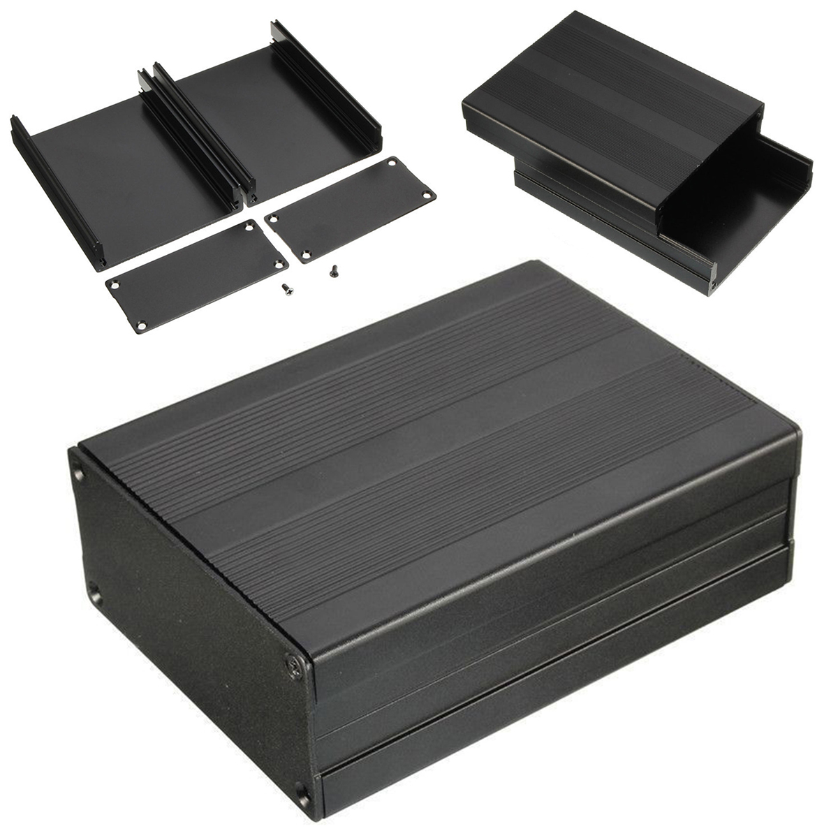 Black Extruded Aluminum Enclosures PCB Instrument Electronic Project Box Case 100x76x35mm electronic project box 44 5 h x482 w x200 l mm extruded aluminum enclosures black high quality and cheap cost aluminum case