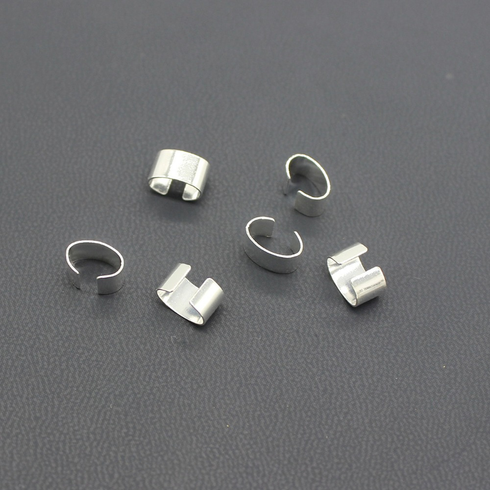 10//50Pc Silver//Gold Plated Pinch Clip Clasp Bail Connector Jewelry Findings 20mm