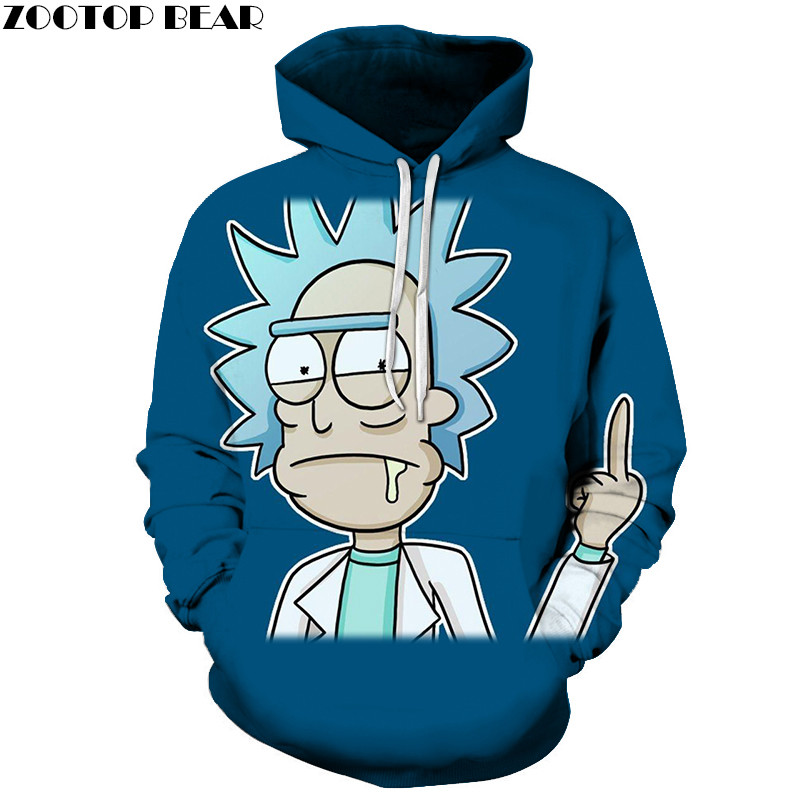Ricky Hungry 3D Printed Hoody Funny Sweatshirts Men Tracksuit Hoodies Pullover Streetwear Cloth Unisex DropShip ZOOTOPBEAR 6XL