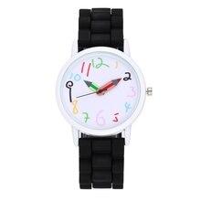 Оптовая продажа; новый стиль белый чехол силиконовый ремень детей часы карандаш указатель часы Мода Девушки Дети краски ЧАСЫ