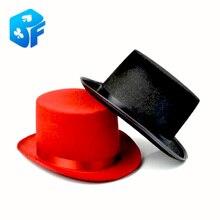 Один ПК(красный или черный) символ волшебника джазовая шляпа без трюка Волшебная Шляпа Для волшебного представления Волшебная сцена