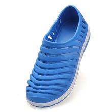 ABDB Men Summer Hollow Flat Beach Rubber Sandal Slipper Shoes