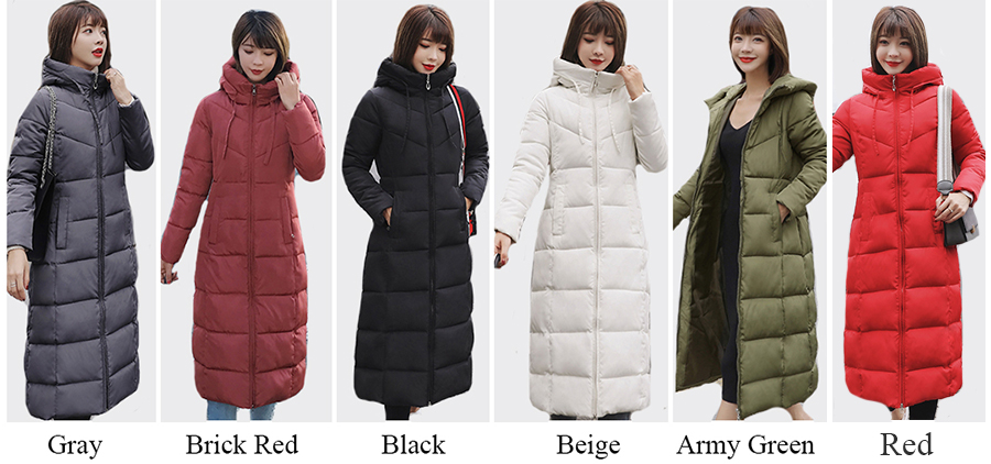 Plus Size 4XL 5XL 6XL womens Winter Jackets Hooded Stand Collar Cotton Padded Female Coat Winter Women Long Parka Warm Thicken 2