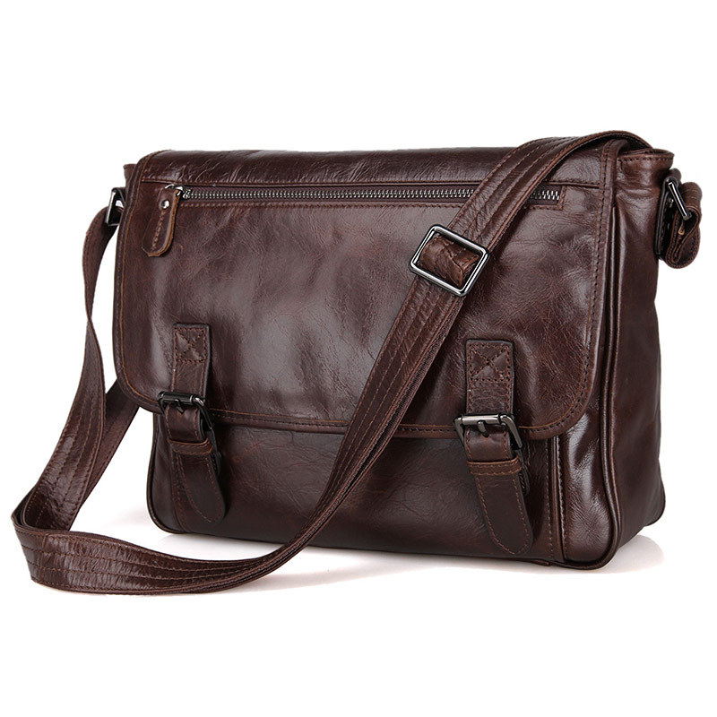 Fashion Oil Waxed Genuine Leather Shoulder Bag Men Messenger Crossbody Sling Leisure Casual New M184 In Bags From Luggage