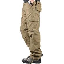 Kombinezony męskie spodnie bojówki Casual wiele kieszeni wojskowe spodnie taktyczne Pantalon Hombre męskie spodnie dresowe proste spodnie