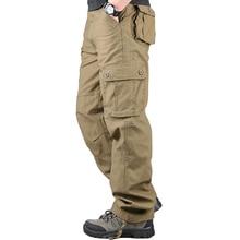 Salopette Cargo pour hommes, Pantalon de survêtement pour hommes, multi poches, piste militaire, tactique, survêtement droit, collection décontracté