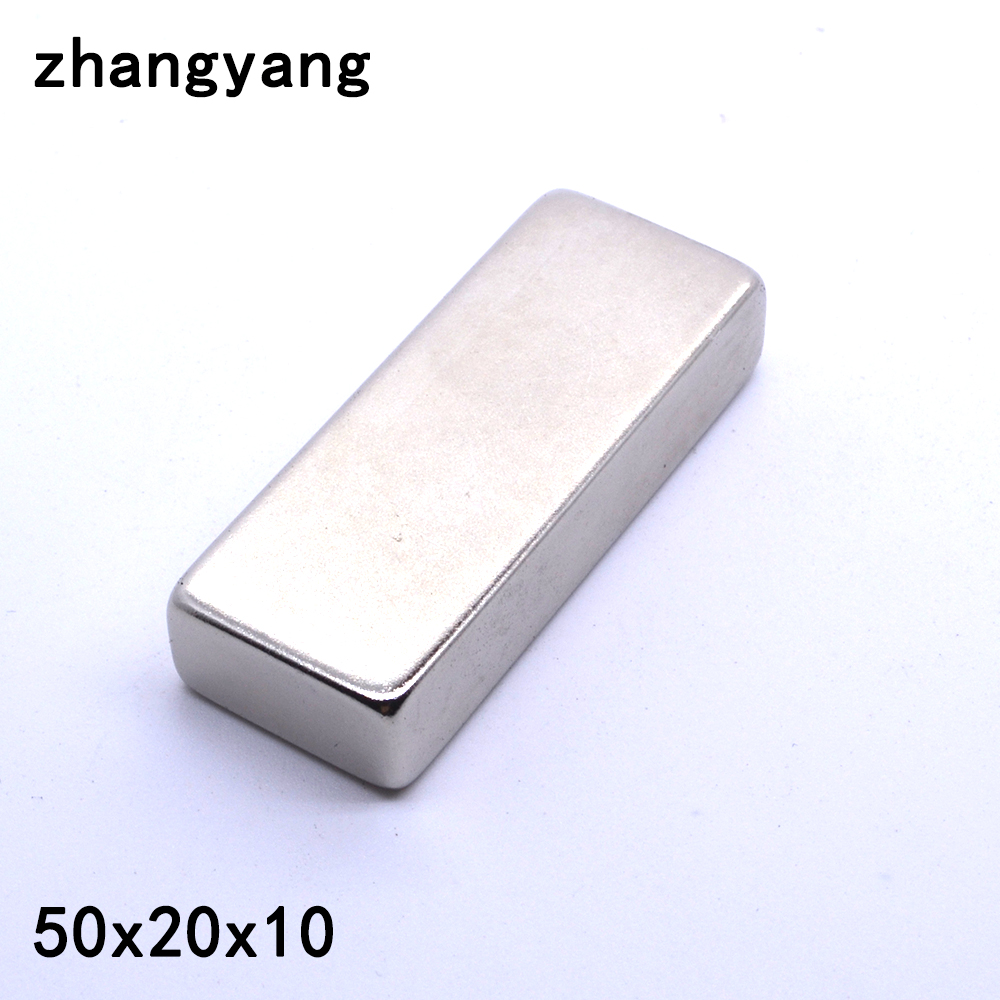 Free Shipping 20PCS/Lot N35 50 x 20 x 10mm Block Powerful Neodymium Magnet Super Strong Rare Earth Permanet Magnet free shipping sop32 wide body test seat ots 32 1 27 16 soic32 burn block programming block adapter