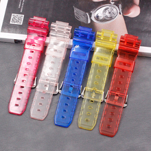 Resin strap mens and womens watch accessories pin buckle for Casio DW-6900MS-1 DW-6900 DW-6600 DW-6930 waterproof sports