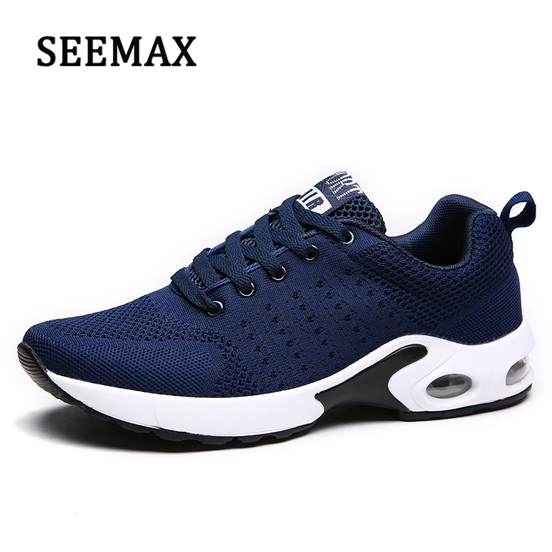 Mens Lace Up Air Mesh Breathable Running Shoes Fitness Shoes Outdoor Jogging Sports Sneakers Soft Fly Shoes For Men