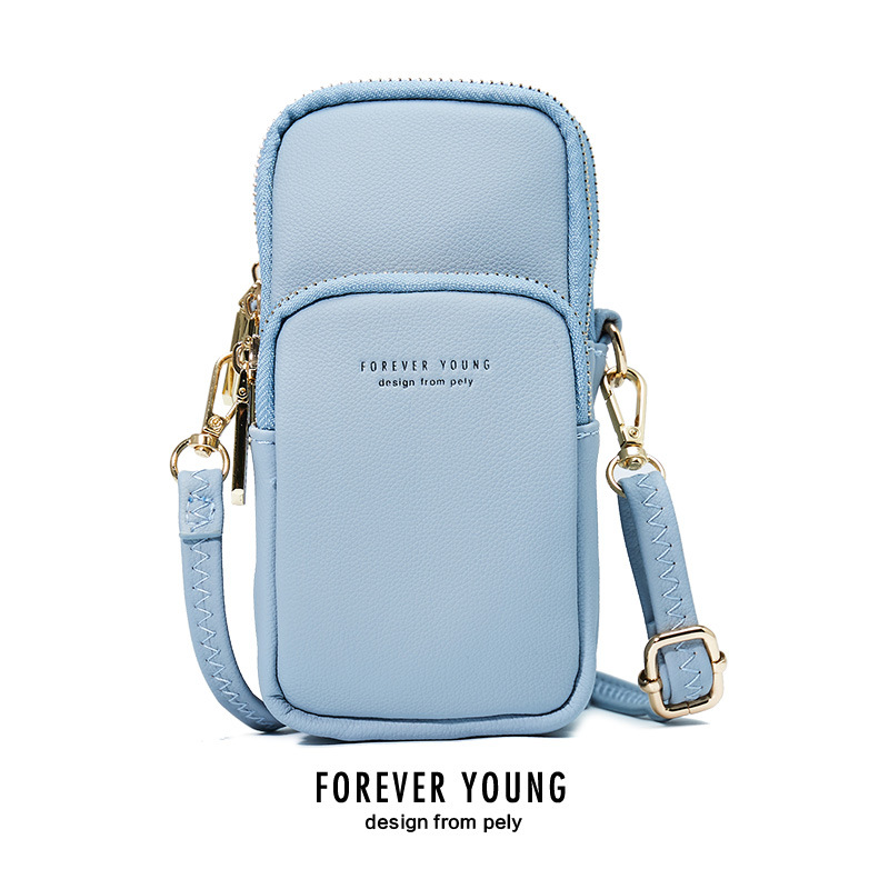 2019 Forever Young 11 Colors Leather Phone Bag New Casual Wallet Mobile Phone Bag for Iphone XS X Outdoor Leisure Shoulder Bag bag