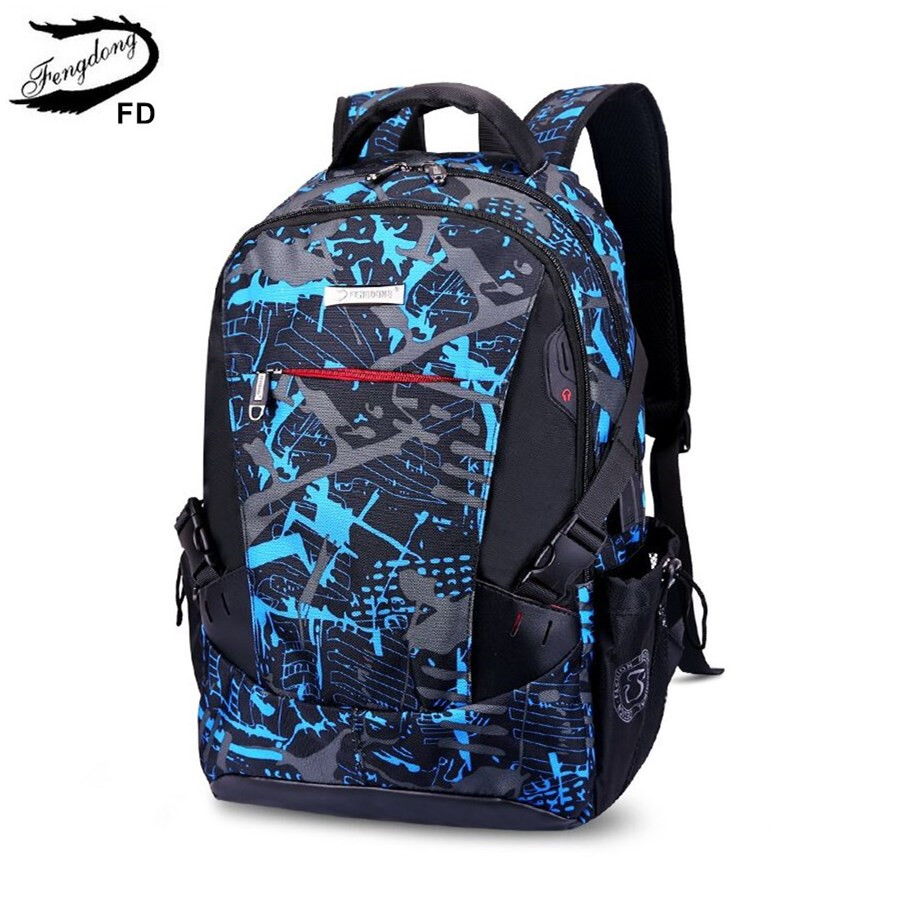 FengDong high school bags for boys waterproof camouflage school backpack for boy men travel laptop backpack 15.6 dropshipping