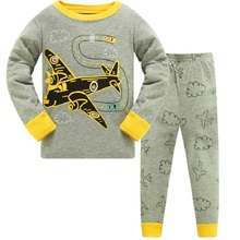 2019 Brand New Pyjamas Baby Boys Aircraft Sleepwear Kids 100% Cotton Long Sleeve Fashion Cartoon Batman Pajamas For