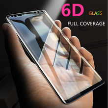 6D Full Curved 5D Tempered Glass For Samsung Galaxy S8 S9 Plus 3D Screen Protector Film S7 Edge Note 8 A6 A8 Plus Cover case(China)