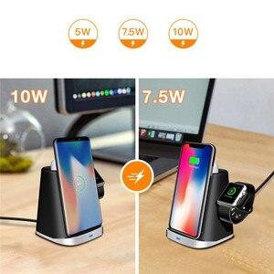 Image 5 - Cargador rápido Q1 3 en 1, base de carga inalámbrica para iPhone y Apple Watch AirPods/Samsung, cargador inalámbrico Universal