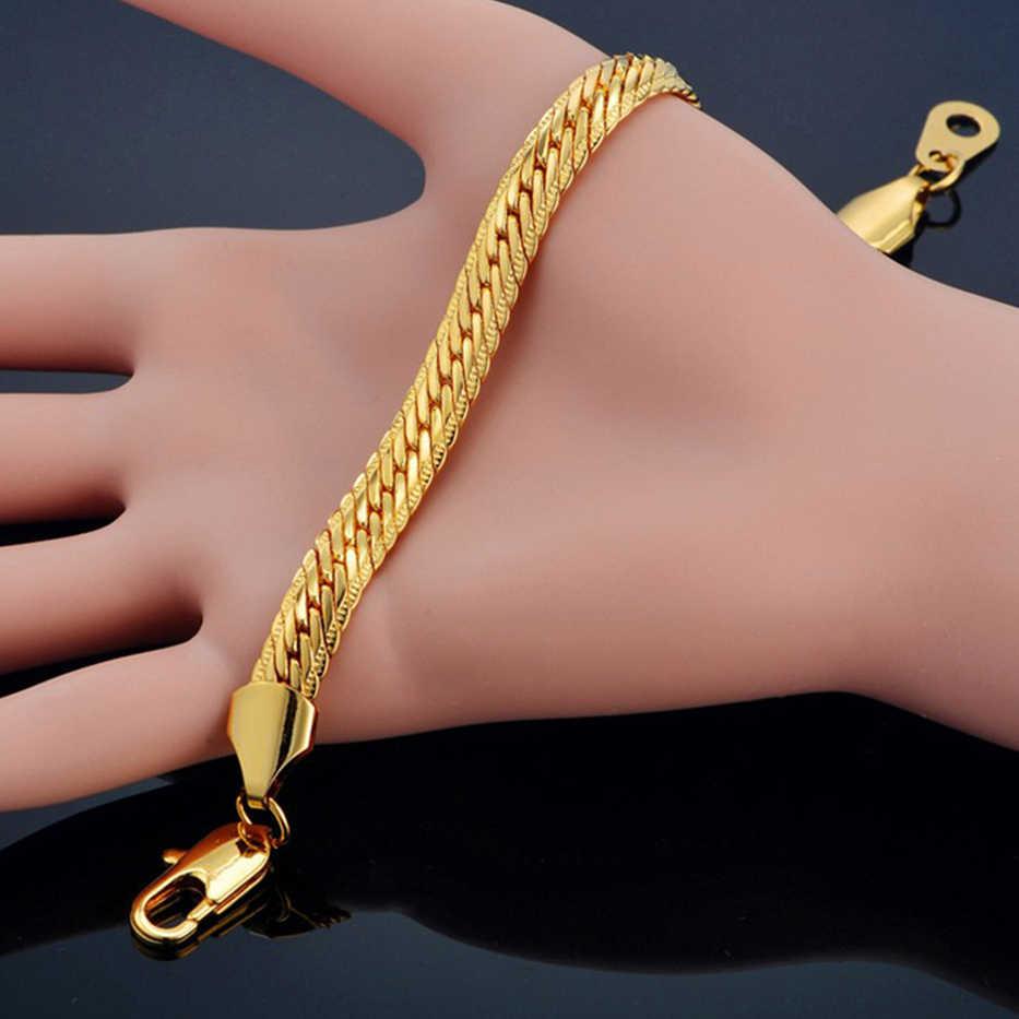 Dropshipping Vintage wąż Chain Link bransoletka dla kobiet/mężczyzn hurtowych bransoletka srebrny kolor ręcznie łańcuch bransoletki biżuteria męska