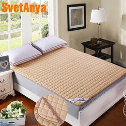 Capa de colchão acolchoada svetanya com cobertura de colchão elástica com recheio/recheios