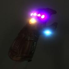 New Infinity Gauntlet Avengers The Avengers 4 Endgame Thanos Gloves Cosplay Prop Kids Adult Avengers LED Gloves Mittens PVC Toys