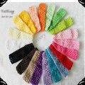 Free Shipping!New 1.5inch  Baby crochet  headband 50pcs/lot knit  waffle headband baby hairbands