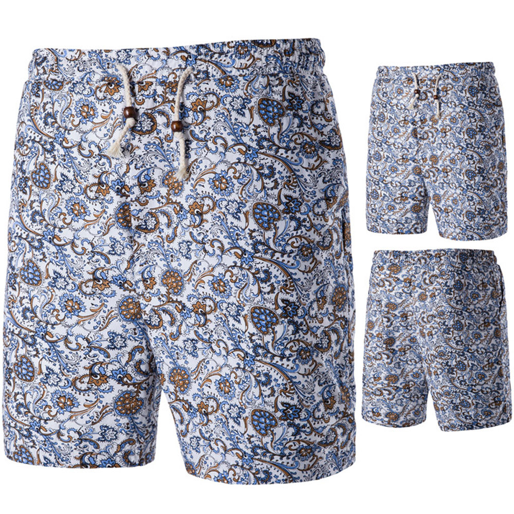Womail Brand High Quality Swimmer Summer Mens Stylish SlimShort Sandy Beach Sport Print Pants Shorts