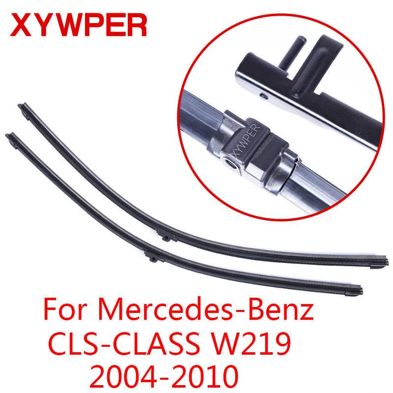 Стеклоочистители XYWPER для Mercedes-Benz CLS-CLASS W219 2004 2005 2006 2007-2010 автомобильные аксессуары мягкие резиновые Дворники для лобового стекла
