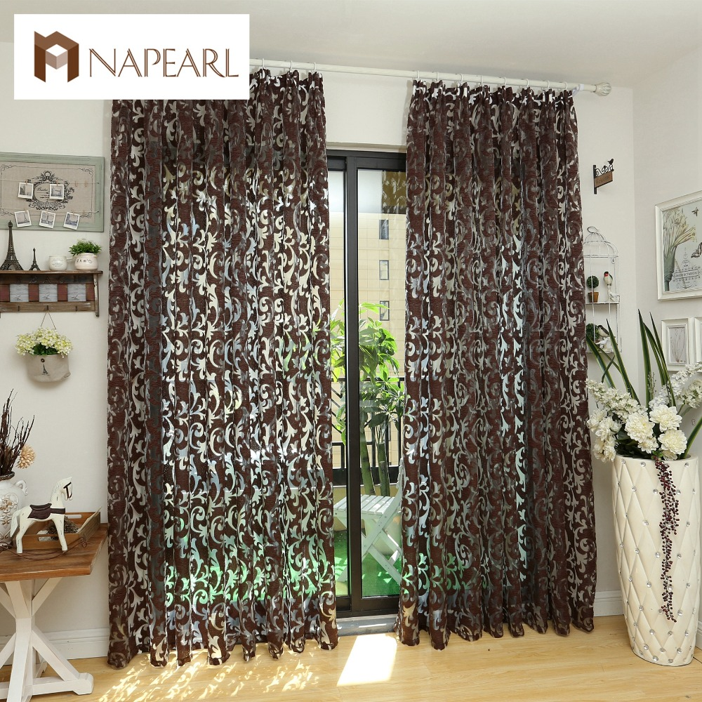 NAPEARL Modern curtain red purple 3d curtains home decoration ...