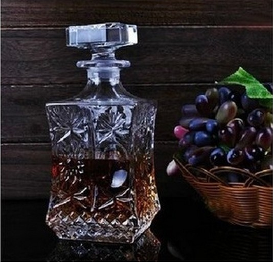1PC 500ml 800ml Wine Whisky Bottle Crystal Wine Glass Bottle Vodka Jar Jug Wine Decanter Bar