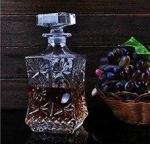 1PC 500ml 800ml Wine Whisky Bottle Crystal Wine Glass Bottle Vodka Jar Jug Wine Decanter Bar Tool J1091