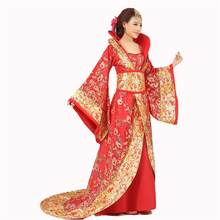 Chinese Han Dynasty Court Dress Dramaturgic Dress Women Ancient Infanta Costume Peri Theatrical Draggle-tail Dress High Quality(China)