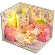 Diy DollHouse Miniature Dust Cover 3D Wooden Miniaturas Retro shop Dollhouse Toys Birthday Gifts Box theater casa creative gift