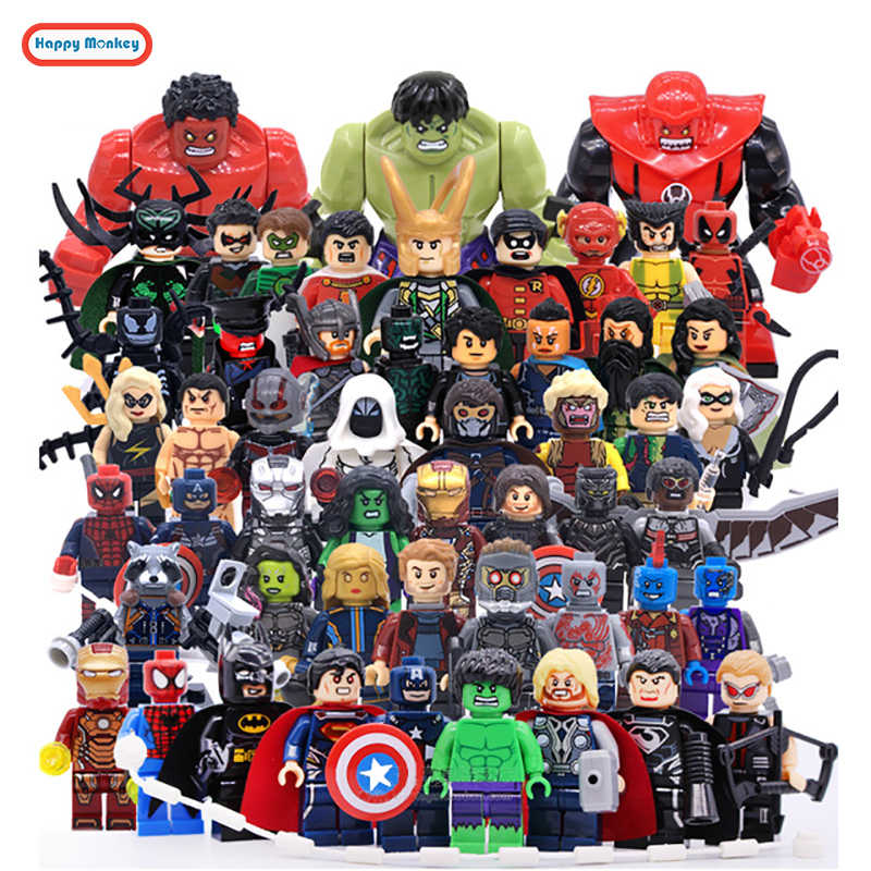 Marvells Super Heroes Infinity War Avengers Venom Batman Spider-Man Iron Man Captain America Building Blocks Toys Figure Y30