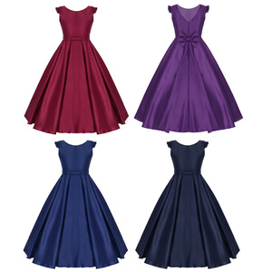 Image 2 - New Arrival Girls Satin Ruffled Fly Sleeves Bowknot Flower Girl Dress Princess Pageant Wedding Bridesmaid Birthday Party Dress